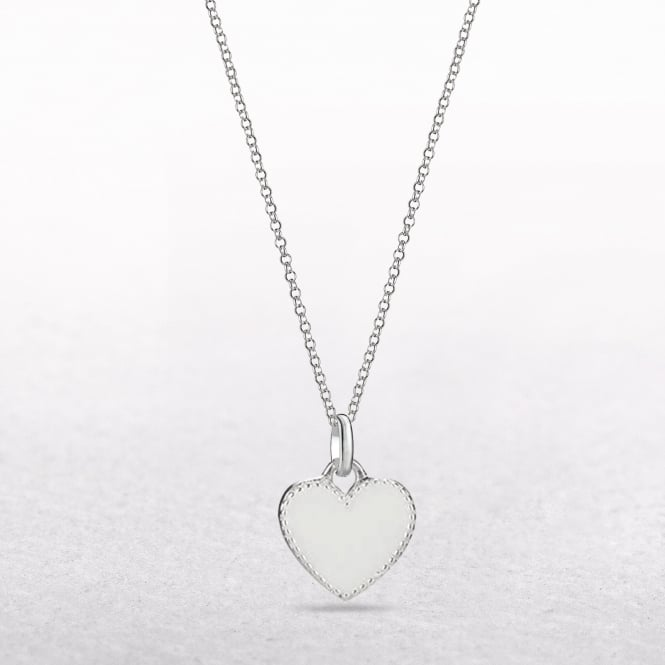 Molly Brown Elodie White Enamel Heart Pendant