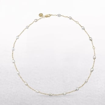 Molly Brown Signature Pearl Gold Vermeil Station Necklace