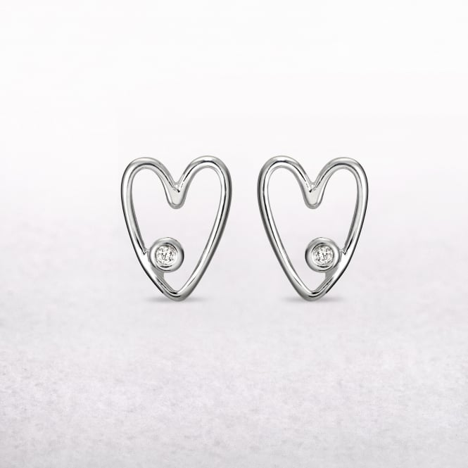 My First Diamond Heart Molly Brown Stud Earrings