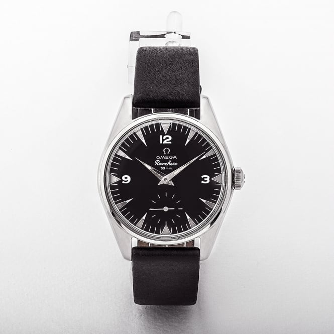 Omega Ranchero Black Dial With Leather Strap