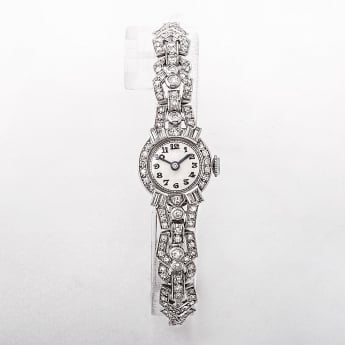 Platinum Cocktail Watch Set with 1.20ct Diamonds