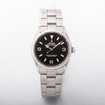 Rolex 2000 Gents Explorer Black Dial Watch on Oyster Bracelet