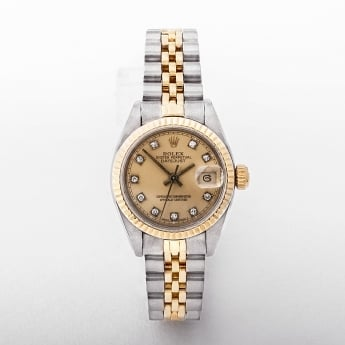 Rolex Ladies 1984 Champagne Diamond Set Dial Watch in Two Tone Metal #69173