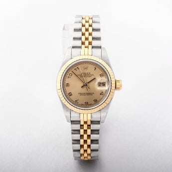 Rolex Ladies 1997 Certified Datejust Watch 18ct yellow gold and stainless steel jubille bracelet #69