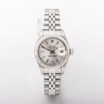 Rolex Ladies Certified 2002 Watch with White Dial