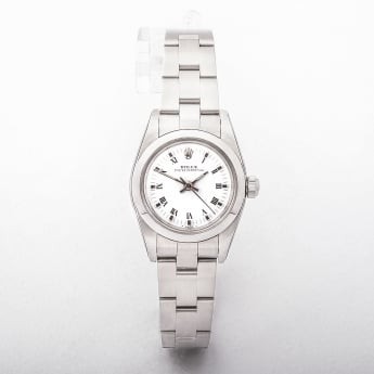 Rolex Ladies White 1971 Certified Watch in Stainless Steel
