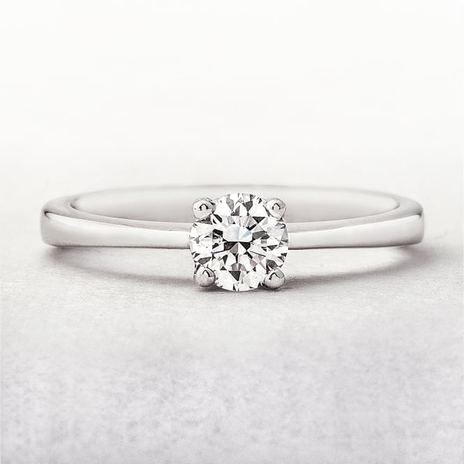 Round 0.35ct Diamond Solitaire Diamond Ring