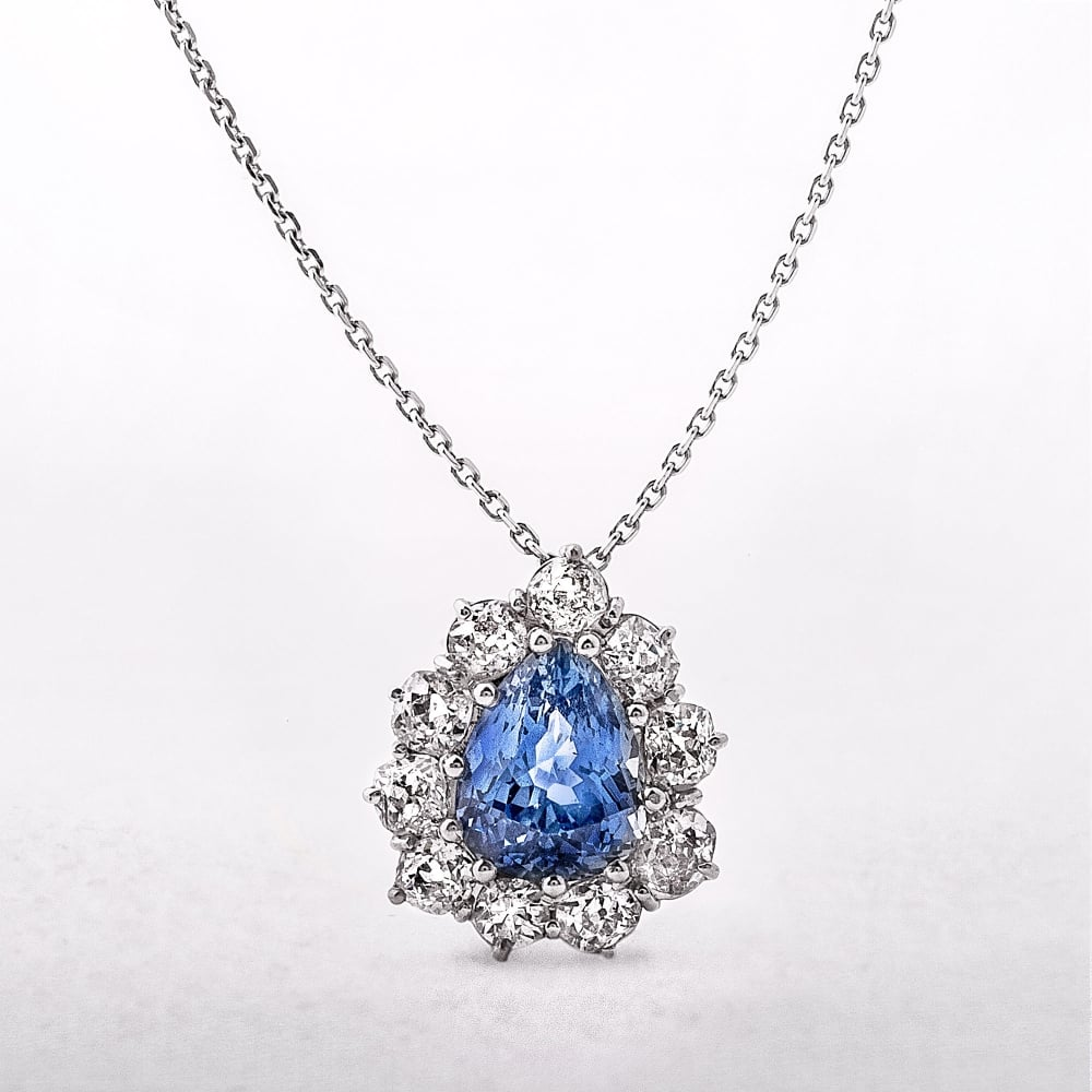 ltd shaped set necklace collections pear products bezel pendants sideway pendant ogi shape sapphire