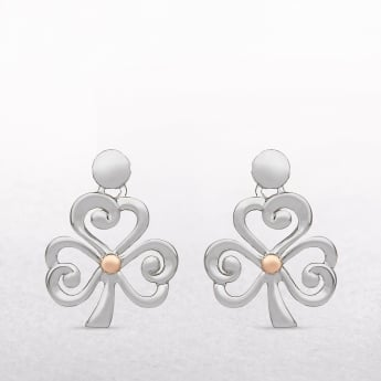 Shamrock Sterling Silver & Rose Gold House of Lor Earrings