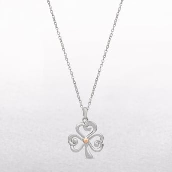 Shamrock Sterling Silver & Rose Gold House of Lor Pendant