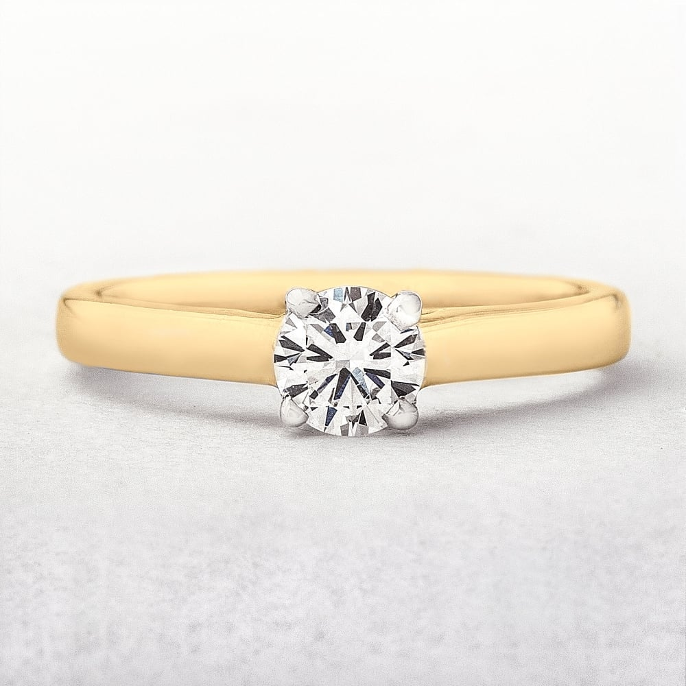 Solitaire Engagement 0 35ct Diamond Ring