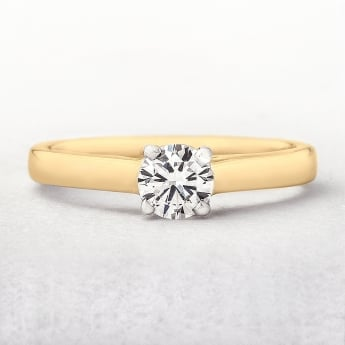 Solitaire Engagement 0.35ct Diamond Ring