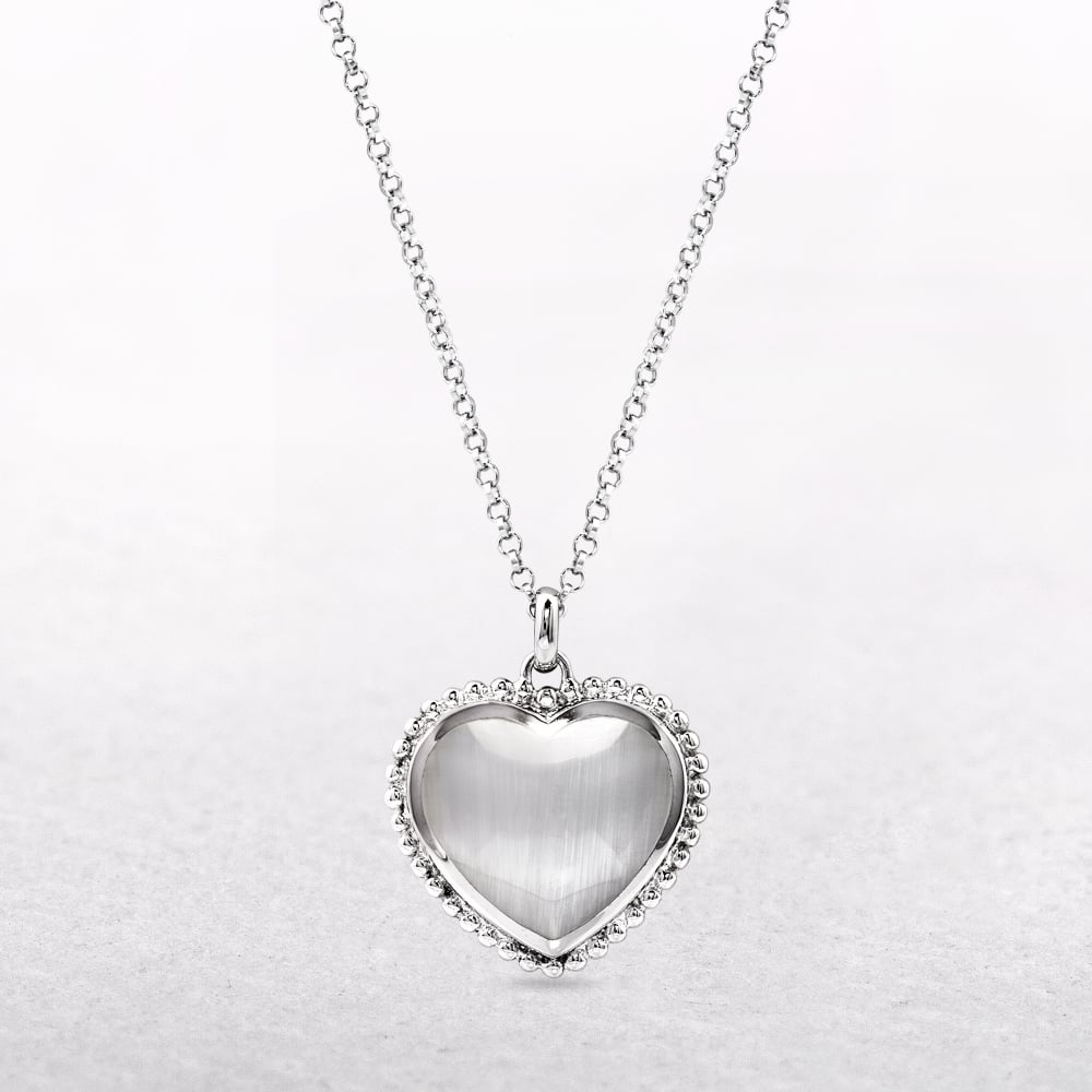 Sterling silver mother of pearl heart pendant aloadofball Image collections