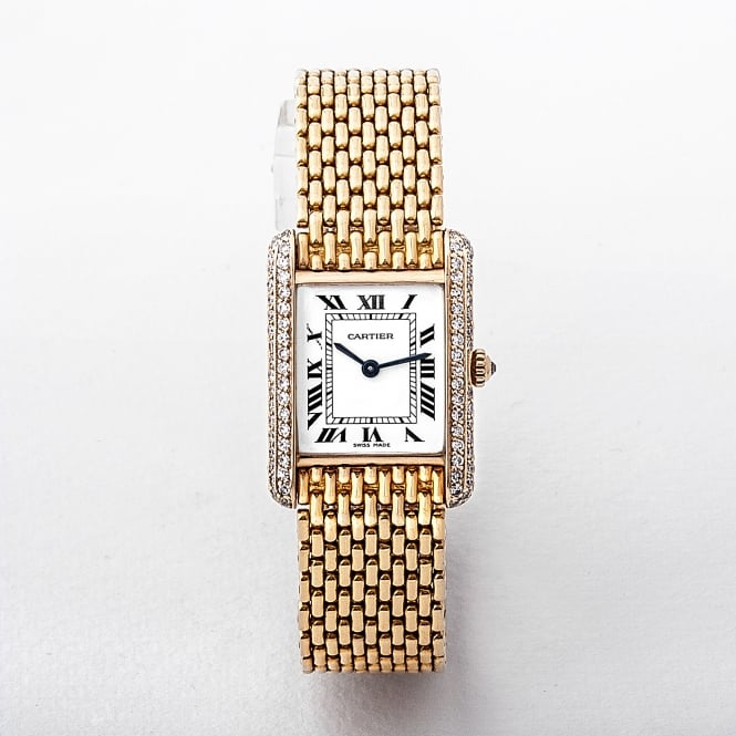 Tank Louis Cartier Watch with 18ct Gold & Diamonds
