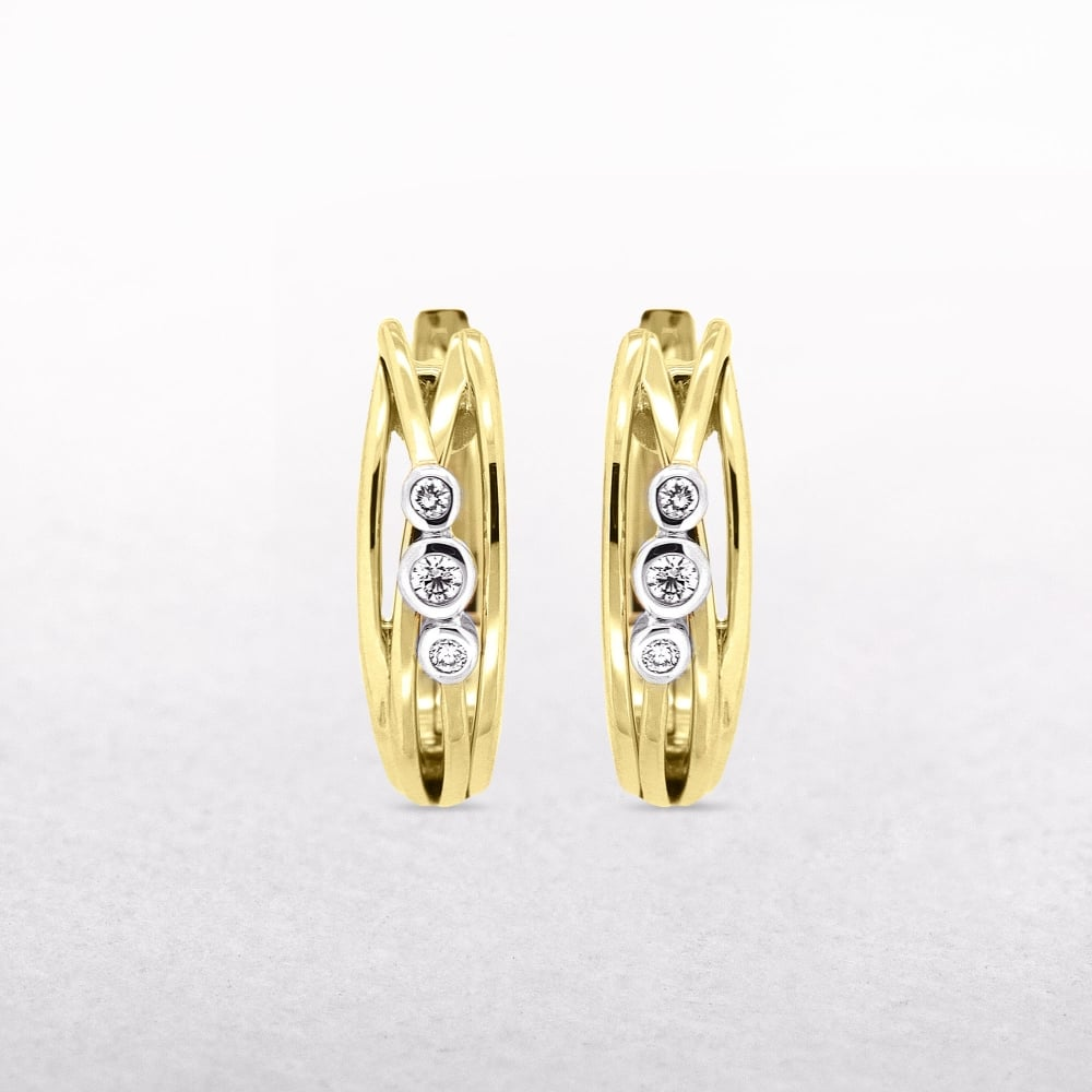 jewelyrie twist cut three set product gold rose ring bezel diamond