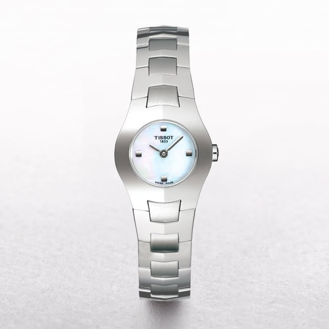 Tissot Mini Stainless Steel Watch With A Mother of Pearl Dial