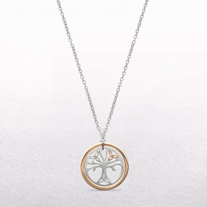 Tree of Life Sterling Silver & Rose Gold House of Lor Pendant