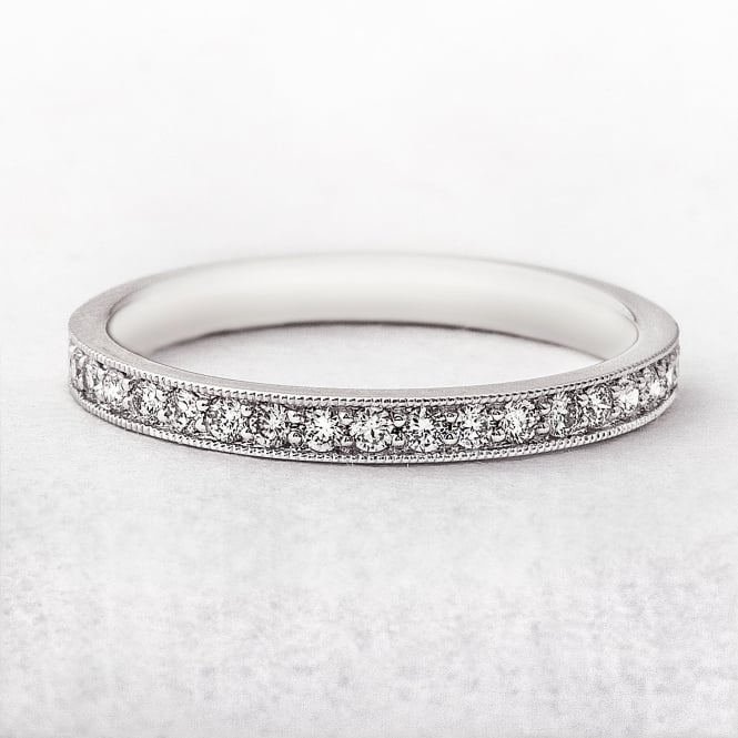 White Gold Ladies Wedding Ring With .22ct Diamonds