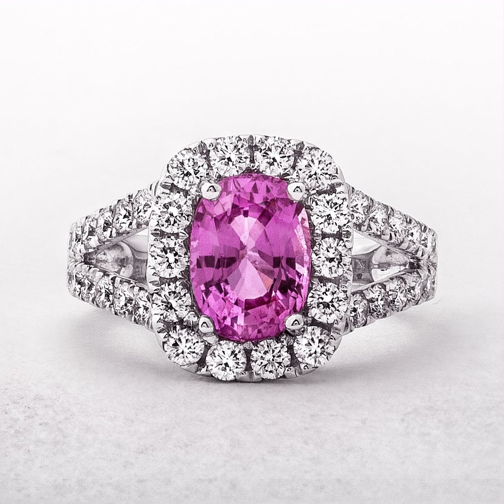 pink diamond sapphire pendant accent products