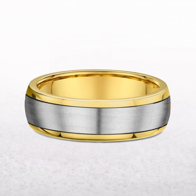 Yellow Gold 5mm Gents Wedding Band