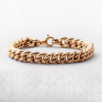 Yellow Gold Curb Bracelet