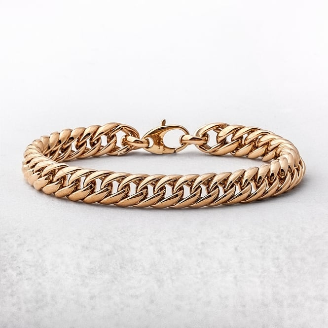 Yellow Gold Intertwined Link Bracelet