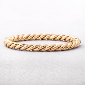 Yellow Gold Rope Style Bangle